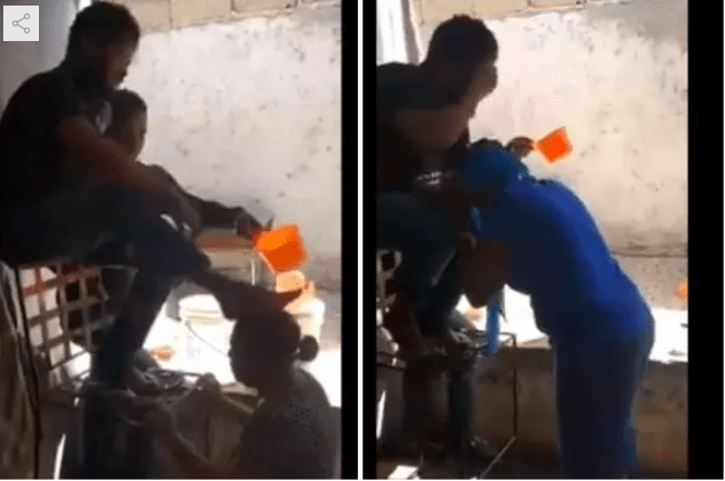 Watch As Pastor Washed His Legs On The Head Of His Members