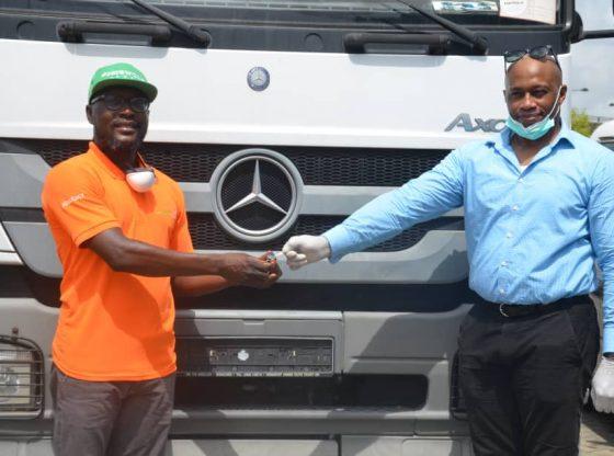 Covid19: Mercedez Benz Donates Axor Truck To Lagos State [PHOTOS]