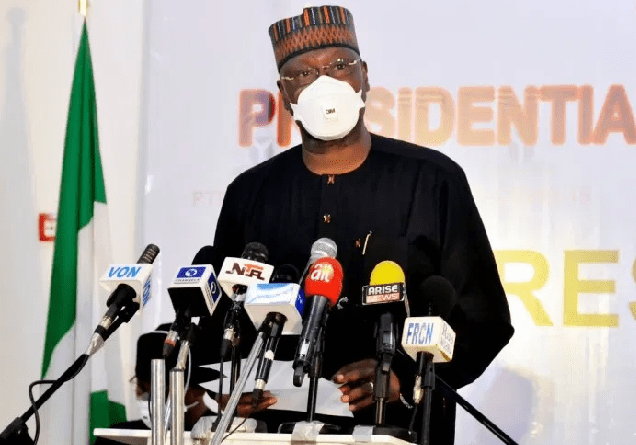 """BREAKING: """"Presidential Task Force On Covid-19 Is Developing Policy On Mandatory Use Of Face Masks"""" - SGF"""