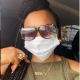 PHOTO: Mercy Aigbe Shows Off Personalised Nameplate Necklace