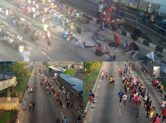 Photos Of Lagos Residents Defying Covid-19 Lockdown Order Surfaces Online
