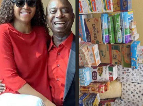 Watch As Regina Daniels & Husband, Ned Nwoko Donate To The Poor Amid Covid-19 Lockdown