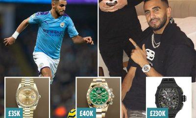 Riyad Mahrez Loses 3 Luxury Watches in £500,000 Raid At His Penthouse [PHOTOS]