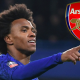 TRANSFER: Willian Offered 3-Year Deal To Leave Chelsea For Arsenal
