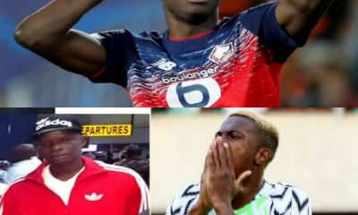 Tears Flows As Super Eagles Striker, Victor Osimhen Loses Father
