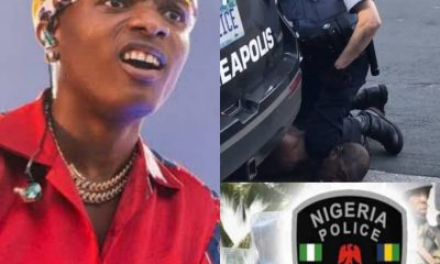 "WIZKID: ""Police Dey Kill Black Americans, Naija Police Dey Kill Nigerians""......#GeorgeFloyddeath"