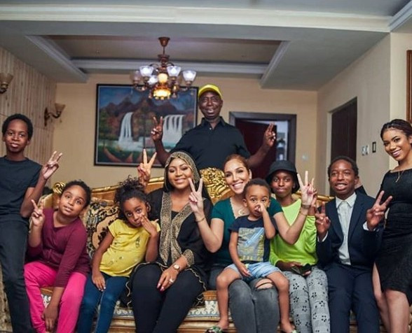 See Beautiful Wives And Children Ned Nwoko [PHOTOS]