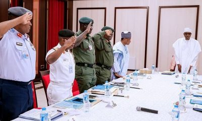 BREAKING: PMB In A Meeting With Service Chiefs [DETAILS]