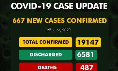 BREAKING: 667 Fresh Cases Of #COVID-19 Confirmed In Nigeria, See Breakdown For Each State