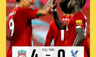 #LIVCRY: #Liverpool Thrash Palace 4-0 To Stay Top #EPL Table