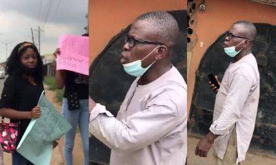 Man Fumes, Confront Ladies Protesting Against Rape In Lagos [VIDEO]