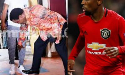 Man United Offer New Contract To #AngelGomes After Videos Of Him At TB Joshua's Church Emerged