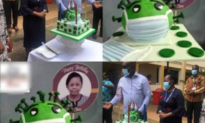 Husband Buys 'Doctor' Wife 'COVID-29-Themed' Cake On Her Birthday [PHOTOS]