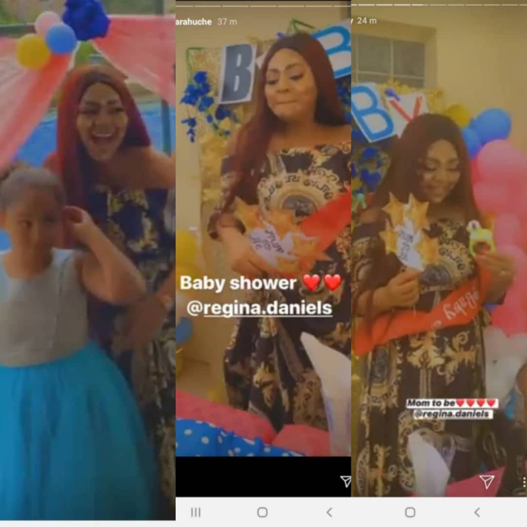 #MUMTOBE: Watch As Regina Daniels Friends Surprise Her With A Baby Shower [PHOTOS/VIDEO]
