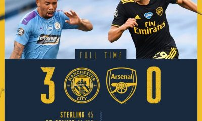 #EPL RETURNS: Man City Thrash Arsenal 3-0 As Players Take Knee - #MCIARS