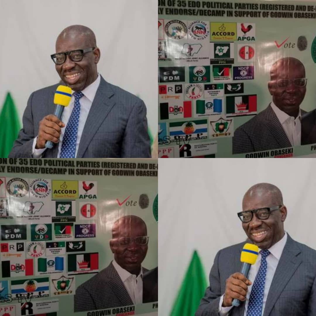 #Edo2020: 35 Political Parties Collapse Structures For Godwin Obaseki