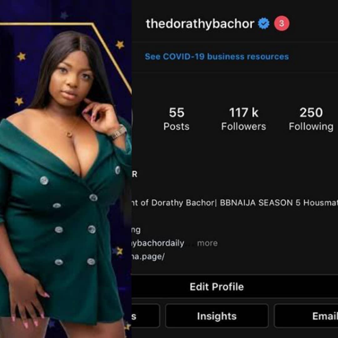 bbnaijalockdown2020: Busty #BBNaija Dorothy Is Verified On Instagram