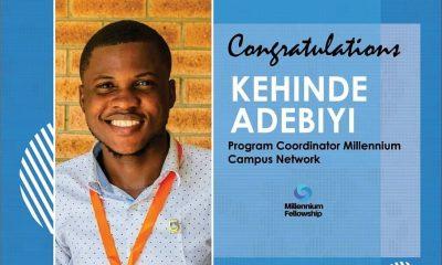 LASU Fresh Graduate, Kehinde Adebiyi, Appointed Programme Coordinator At Millennium Campus Network, Usa