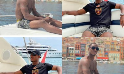 Striker Odion Ighalo Goes Shirtless With Boat Cruise PHOTOS]