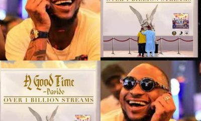 "ITS OFFICIAL!!! Davido's "" A Good Time "" Hits A Billion Streams On All Platforms"