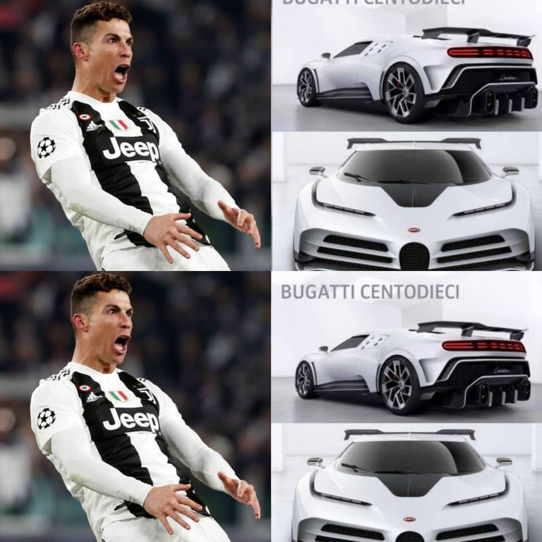 CR7 Celebrates Seria A Triumph With Juventus, Acquires £8.5MILLION Bugatti Centodieci