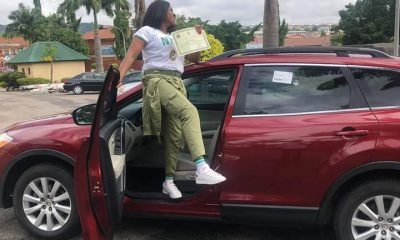 Photos Of Fish Seller Who Gift Herself A Car As She Completes Her NYSC