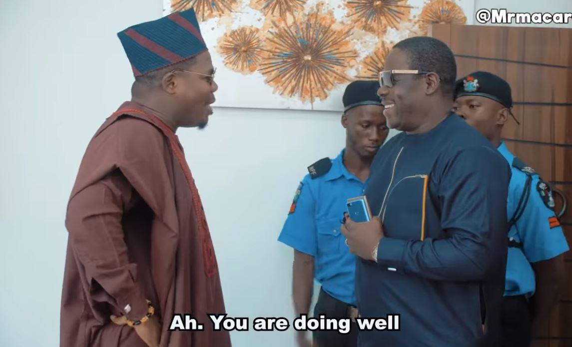 Social Media Agog As Ogogo Stars In Mr Macaroni's Comedy Skit [VIDEO]