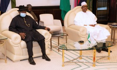 BREAKING: President Buhari And Goodluck Jonathan In Secret Talks At The Villa