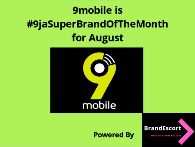 9mobile Emerges #9jaSuperBrandOfTheMonth For August