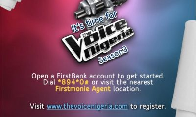 JUST IN: FirstBank Partners Un1ty Nigeria , Promotes Growth Of The Nigerian Music With The Voice Nigeria Season 3
