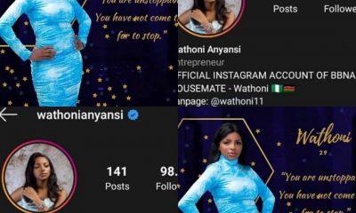 #BBNaijaLocdown2020: Wathoni Becomes 3rd Female Housemate To Be Verified On Instagram