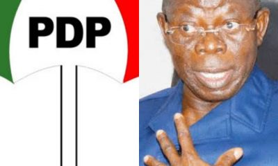 #Edo2020: Present Your Primary 6 Certificate - PDP Tells Oshiomhole