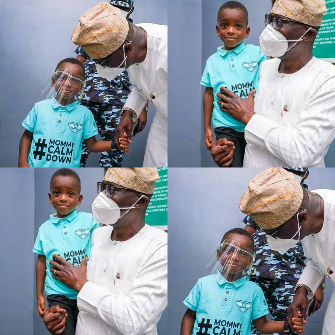 PROMISE KEPT!!! Mommy Calm Down Boy Finally Meets Governor Sanwo-Olu [PHOTOS/VIDEO]
