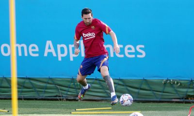 Lionel Messi Returns To Training After Fallout With Barcelona [PHOTOS/VIDEO]