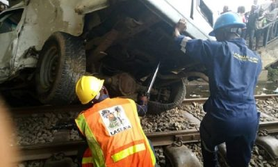 BREAKING: Train Smashes Bus In Lagos [PHOTO/VIDEO]