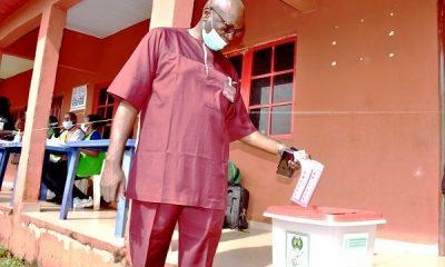 BREAKING: Pastor Osagie Ize-Iyamu Casts Vote - #EdoDecides