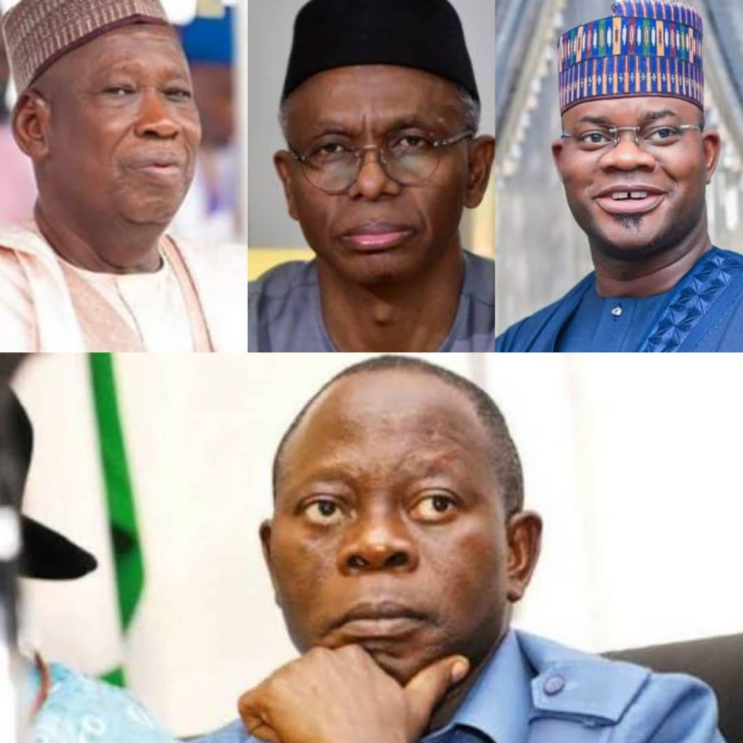 BREAKING: Adams Oshiomhole, Abdullahi Ganduje, 2 Other Governors Reportedly On US Visa Ban List [SEE FULL LIST]
