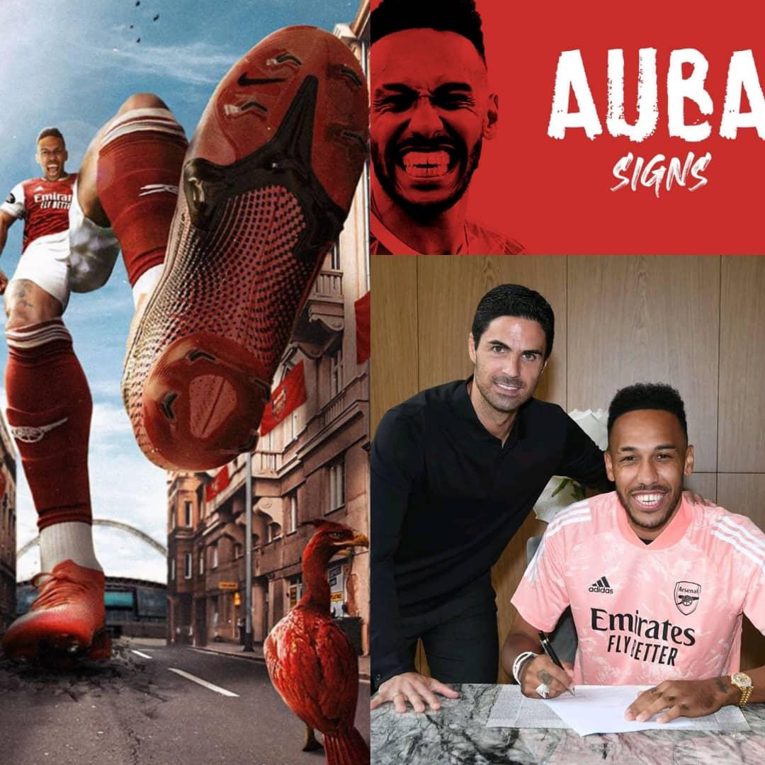 BREAKING: Arsenal Skipper, Pierre-Emerick Aubameyang Signs New Contract - #AubaSigns