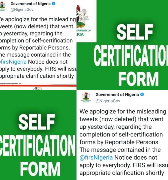BREAKING: Self-Certification Forms Isn't For Everybody, FG Apologizes