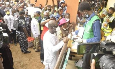 BREAKING: At Last, Governor Obaseki Casts His Vote - #EdoDecides