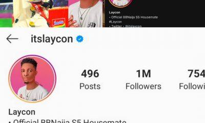 BREAKING: Laycon Hits 1 Million Followers On Instagram - #GbeduWithLaycon