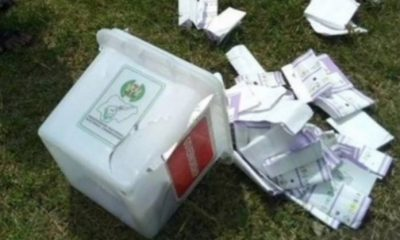 #EdoDecides2020: Watch As Angry Voters Descend On Ballot Box Snatcher