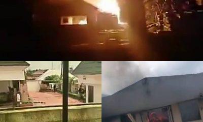 FRESH: Calabar On Fire As Hoodlums Set WAEC, NTA, NIMC Offices, Duke's Hotel Ablaze (Videos)