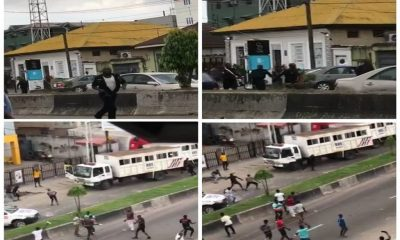 Moment Operatives Of Rapid Response Squad Attacked By Hoodlums In Yaba [VIDEO]