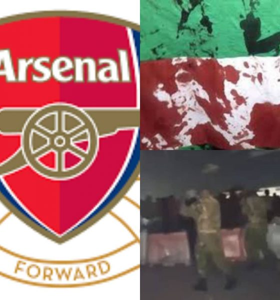 How Arsenal FC Sympathized With Nigerians After Watching Footage Of #LekkiMassacre