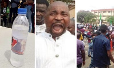 Why #EndSARS Protesters Refused Water, Drinks Donated By MC Oluomo (VIDEO)