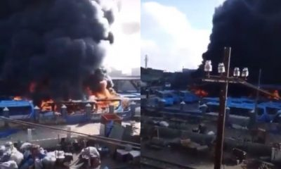 HAPPENING NOW: [VIDEO] Hoodlums Set BRT Buses On Fire At Oyingbo Lagos State - #NIGERIABLEEDS