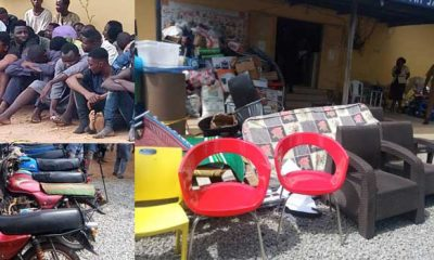 PHOTOS:Kwara State Police Arrests 144 Suspected Looters, Recovers Looted Items
