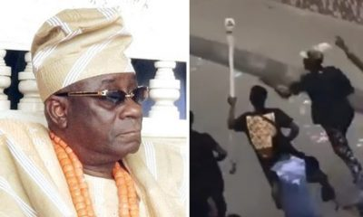 AMAZING!!! Oba Of Lagos Staff Of Office Mysteriously Finds Its Way Back To Palace [VIDEO]