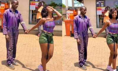 PHOTOS: Social Media Agog As Pretty Lady Takes Her Mechanic Boyfriend Out On A Date